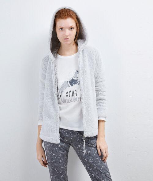 Pyjama 3 pièces xmas unicorn gris clair.