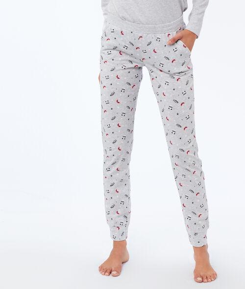 Pantalon imprimé panda