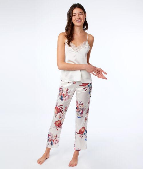 Pantalon à imprimé floral