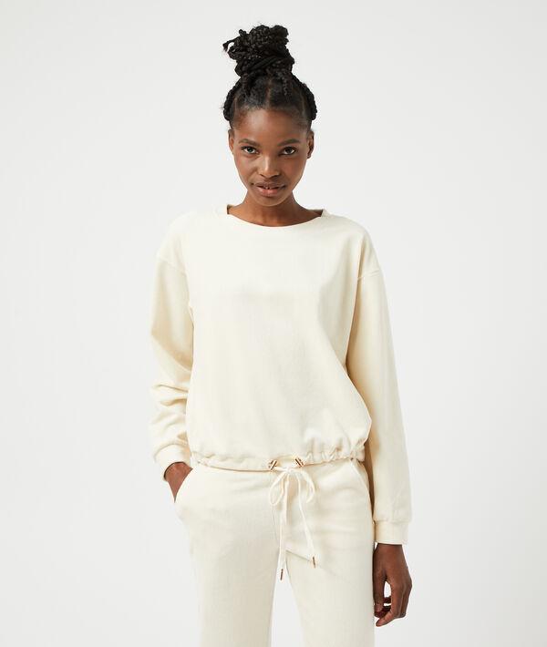 Sweatshirt avec lacet;${refinementColor}