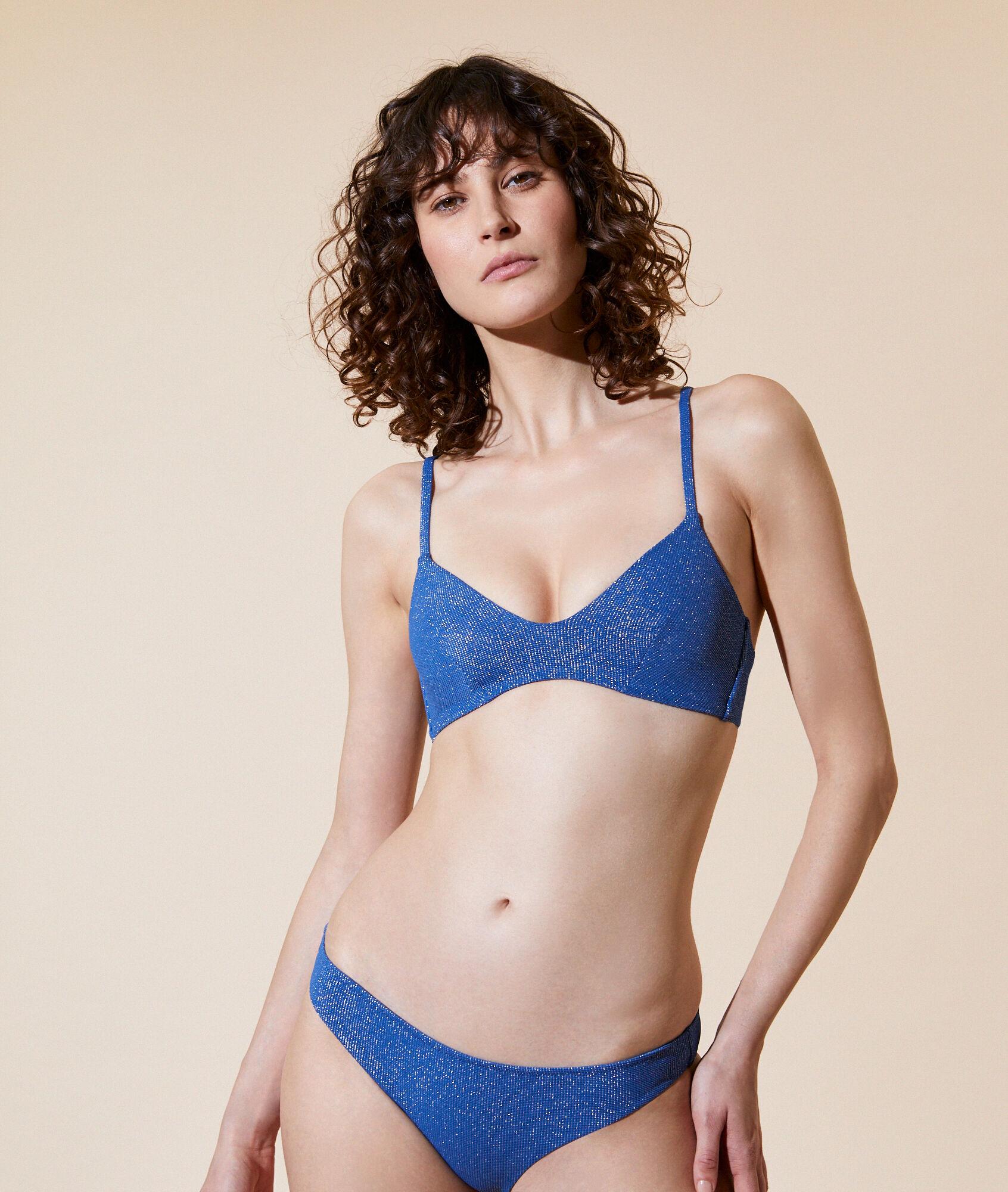 Haut de maillot de bain triangle, pads amovibles BLEU ETAM