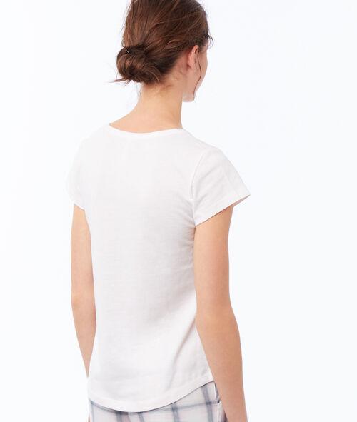 T-shirt à message oreilles en fausse fourrure