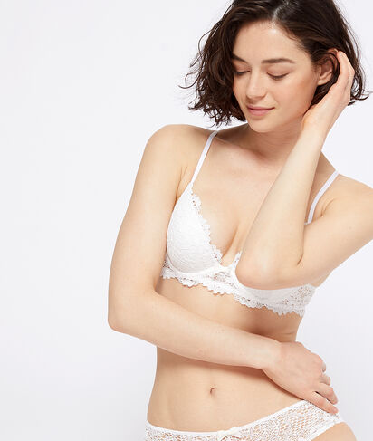 SUCCESS - SOUTIEN-GORGE N°2 - PUSH-UP PLONGEANT EN DENTELLE FLORALE