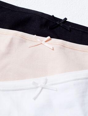 Lot de 3 culottes en coton multicolore.