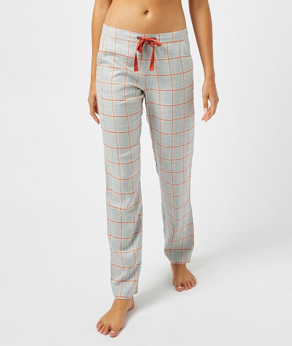 Pantalon à carreaux;${refinementColor}