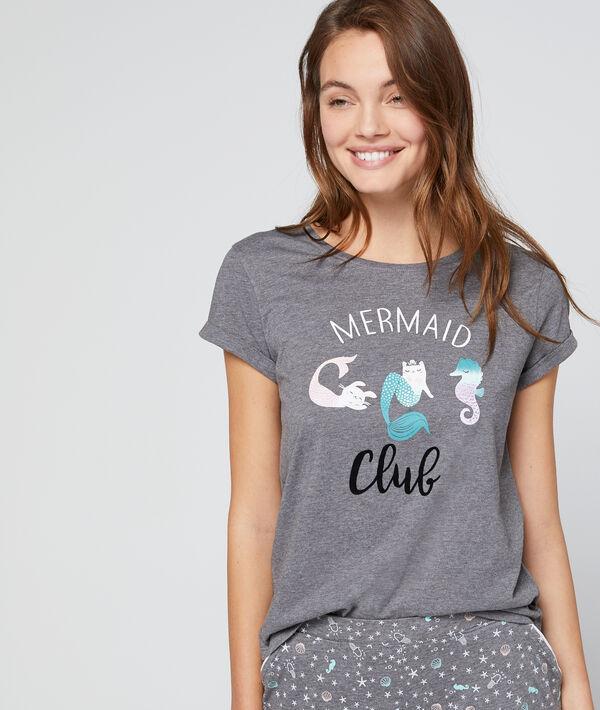 T-shirt imprimé à message
