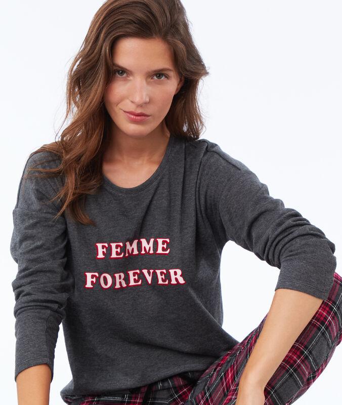 T-shirt à message anthracite.