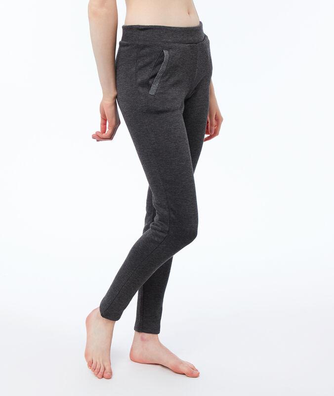 Pantalon homewear doublé ultra doux gris.