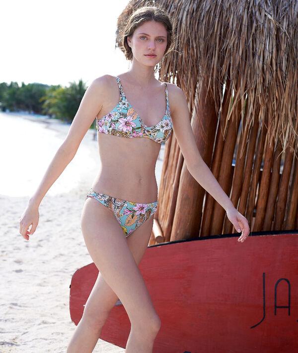 Bas de bikini simple, imprimé tigre
