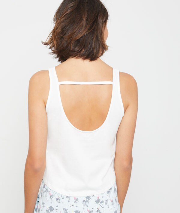 "Crop top en coton  ""L.A. Los Angeles"""