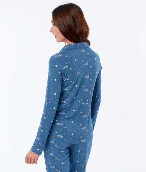 Chemise de pyjama à motifs