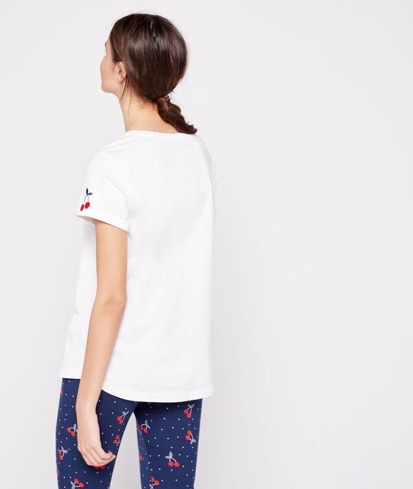 T-shirt 100% coton imprimé cerise