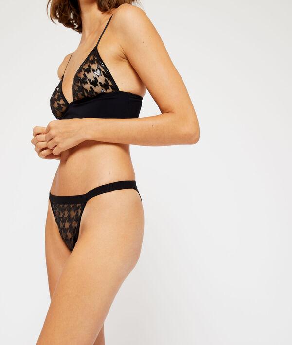 Culotte bikini à motifs