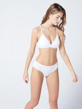 Triangle sans armatures en coton blanc.