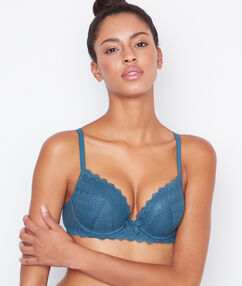 Soutien-gorge n°1 - magic up bleu canard.