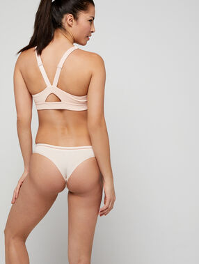 Tanga seamless, coutures invisibles rose.