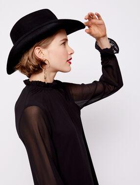 Chapeau 100% laine noir.