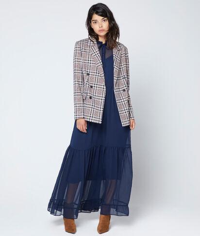 Veste tailleur à carreaux