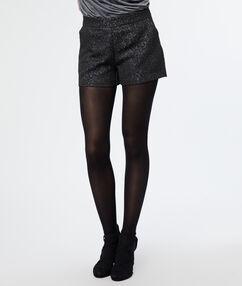Short jacquard noir.