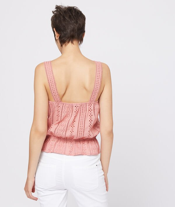 Top à broderie anglaise