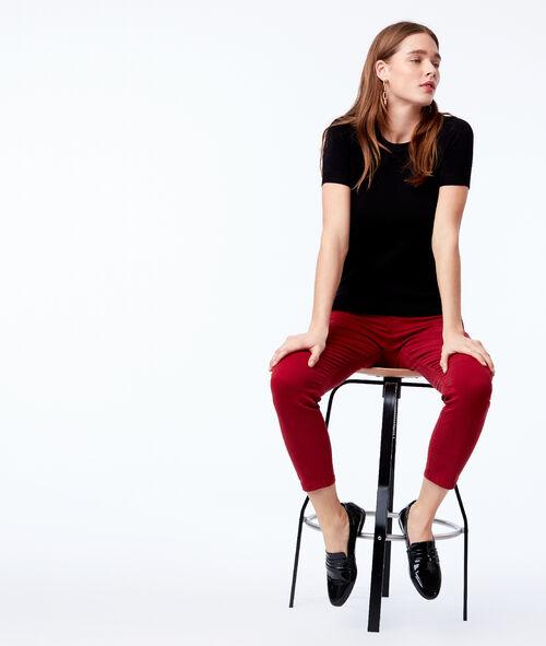 Pantalon slim court en coton