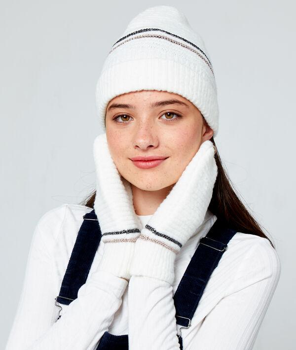 Bonnet à fils métallisés - MISTIE - TU - Ecru - Femme - Etam