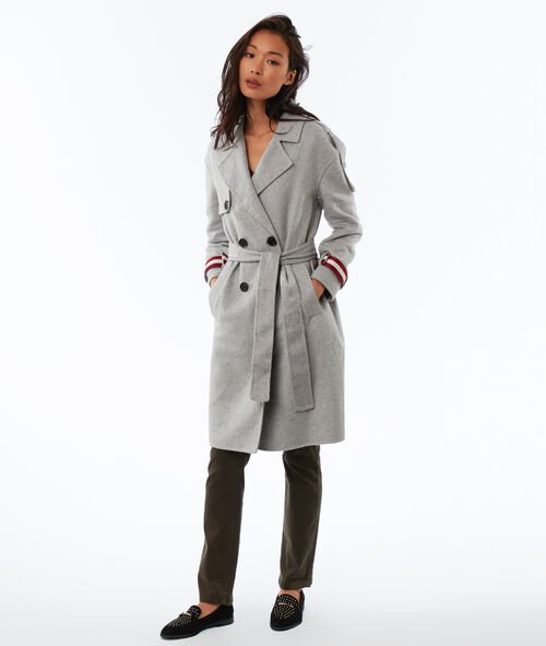 Manteau long ceinturé