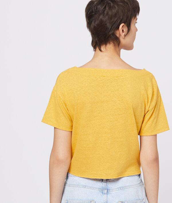 T-shirt boutonné à nouer