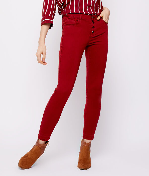Pantalon slim boutonné