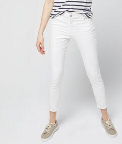 Jean skinny 7/8 blanc.