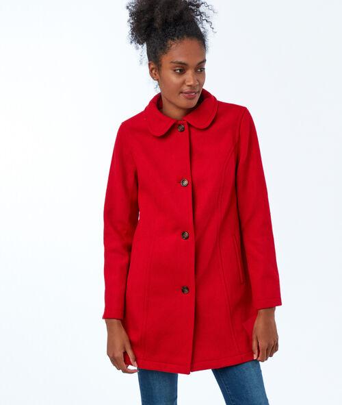 Manteau trois-quarts uni