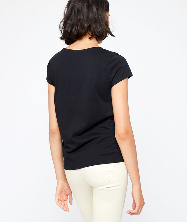 T-shirt col rond en coton