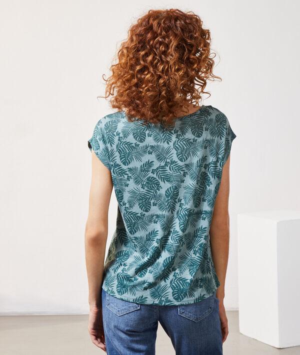 T-shirt imprimé feuillage