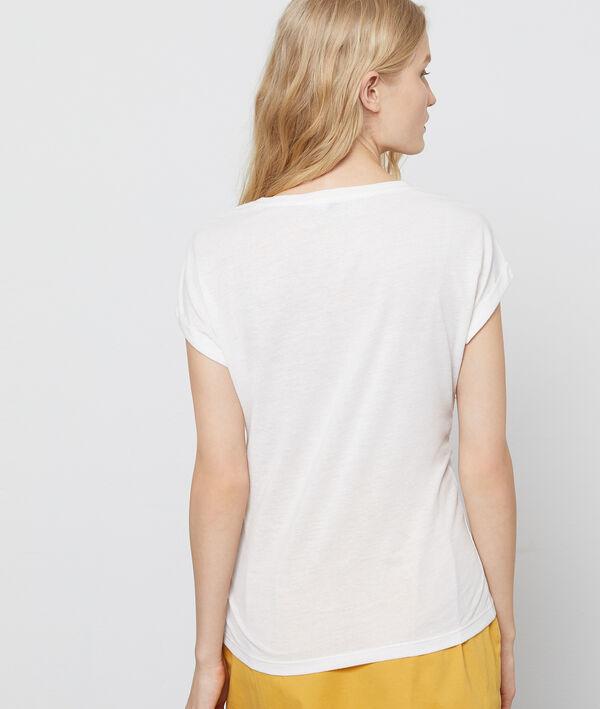 T-shirt à empiècement guipure