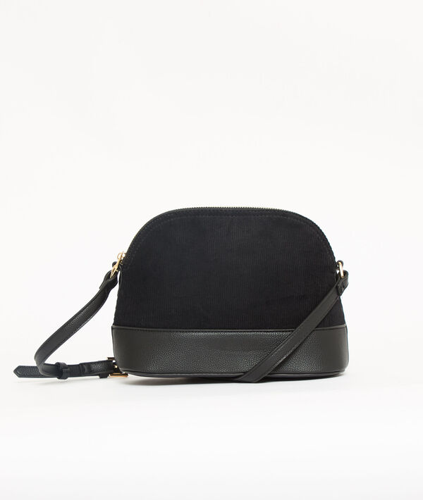 Sac besace effet velours
