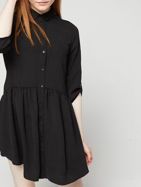 Robe chemise noir.