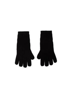 Gants 100% cachemire noir.