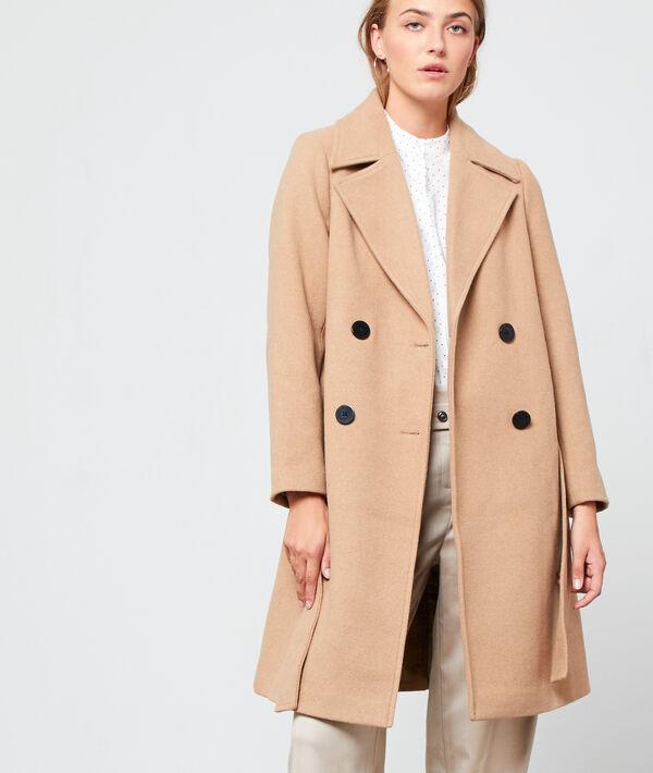 Manteau masculin ceinturé