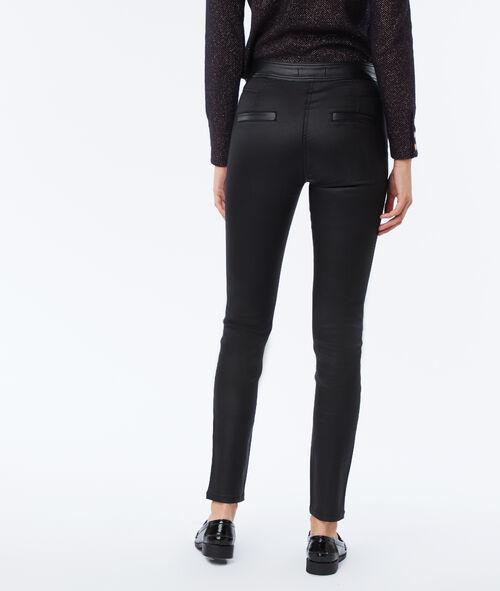 Pantalon zippé effet enduit