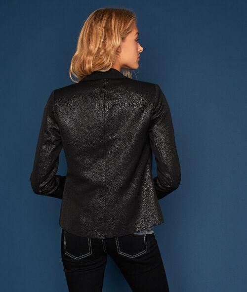 Veste col tailleur à effet métallisé