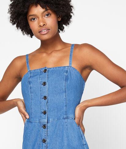 Combinaison fines bretelles en jean
