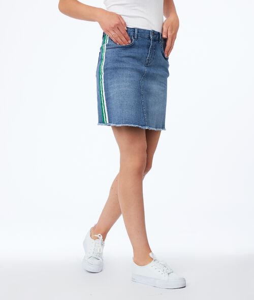 Jupe courte en jean