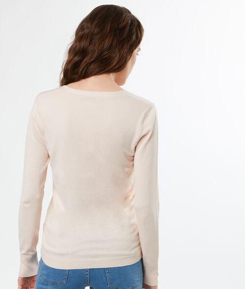 Pull tricot col V