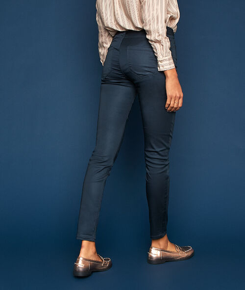 Pantalon slim effet enduit