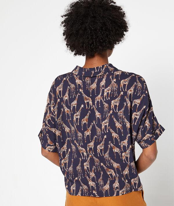 Chemisier à motifs girafes