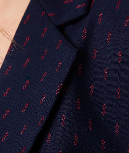Veste de tailleur à motifs