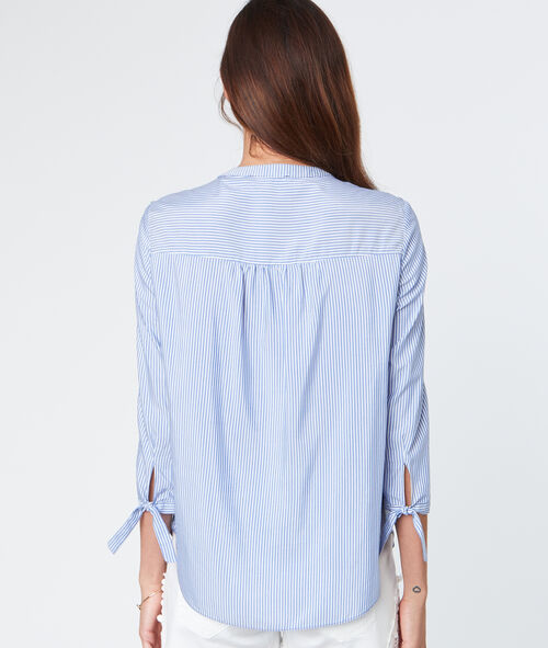 Chemise manches 3/4 à rayures