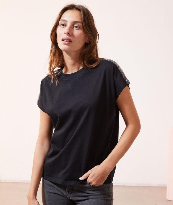 T-shirt à détails métallisés