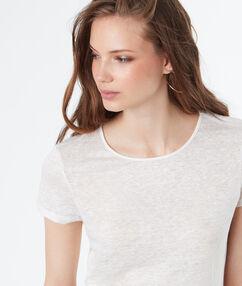 Top manches courtes ouvert au dos blanc.