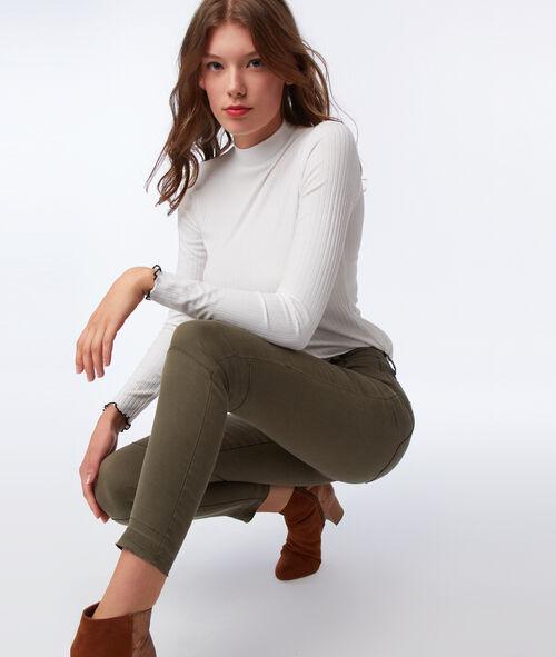 Pantalon slim avec zips